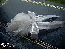 Svadba - biele svadobné pierko - 3944267_