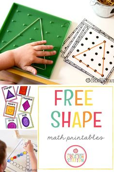 Free Shape Printables Free Shape Printables ,TpT Math Lessons How can you successfully teach shapes to your little learner? Here are five different things you can use to help teach shapes. These free printables. Free Preschool, Preschool Printables, Free Math, Kindergarten Activities, Toddler Preschool, Activities For Kids, Free Printables, Teach Preschool, Preschool Shapes