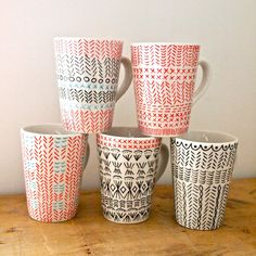 love these mugs with sharpies!