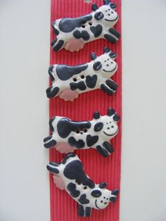 Ceramic Cow Buttons