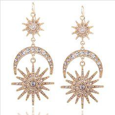 80df2ef1 RADIANT SUN MOON EARRINGS The Radiant Sun Moon Earrings by Grace Callie  Designs. These earrings