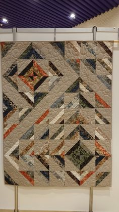 Need to find info on this quilt. Strip Quilts, Mini Quilts, Half Square Triangle Quilts, Square Quilt, Jellyroll Quilts, Scrappy Quilts, Quilt Block Patterns, Modern Quilt Blocks, Halloween Quilts