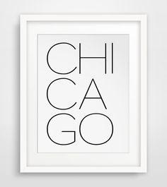 Chicago Print Chicago Typography Chicago von MelindaWoodDesigns