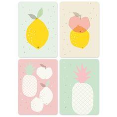 "Image of 4 cartes postales ""Fruits"""