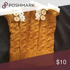 🎁🎁Adorable mustard colored boot cuffs🎁🎁 New never worn. Get noticed in these cuties Accessories Hosiery & Socks
