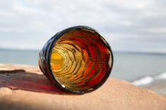 Wazon JS Drost - Okulus, kolor ognisty