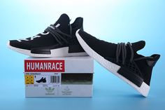 Pharrell Williams X Adidas NMD Human Race Black White 2018 Factory  Authentic Shoe 24e386944