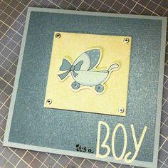 Card for a newborn baby boy <3