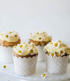 chamomile cupcakes via Sweet Laurel