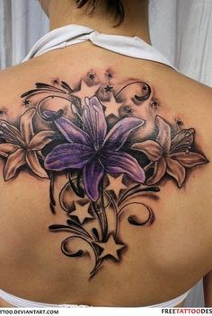 Latest 45 Lily Tattoo Designs for Girls - Star Tattoos, New Tattoos, Body Art Tattoos, Cool Tattoos, Tatoos, Tattoo Stars, Tattoos Skull, Beautiful Flower Tattoos, Pretty Tattoos
