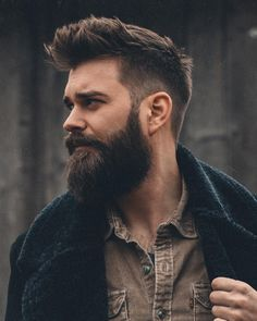 Beard styles 831688256166067800 - Beard are in fashion. Make your beard look more manly and healty. Also Improve your beard style with the help of the best beard care products that most people use. Source by lookswiseb Mens Hairstyles With Beard, Quiff Hairstyles, Haircuts For Men, Cool Hairstyles, Men's Haircuts, Medium Hairstyles, Mens Hair With Beard, Wedding Hairstyles, Modern Haircuts