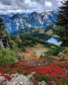 This is an image of beautiful Winchester Mountain WA. It symbolizes the beauty of the world and how Satan is astonished by how gorgeous the Earth is and how he even thinks it's better than Heaven.
