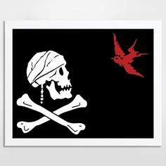 Captain Jack Sparrow Pirate Flag Alternative Pirate Quote Print - BlackSails.co.uk