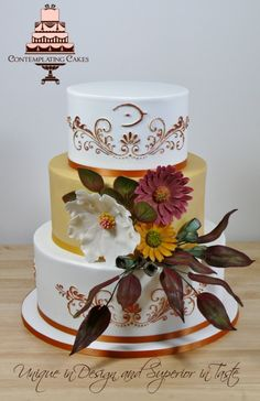Annie This Cake Has To Go Down As One Of My Favourites Such Gorgeous Warm Autumn Tones And Beautiful Earthy Hand Crafted Sugarpaste Rustic... on Cake Central