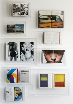 Make a display of your prized coffee table tomes, art books and favourite magazine spreads with Boox perspex wall display frames.