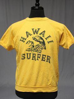 Vintage 60s Hawaii Surfer Short Sleeve T Shirt Sweatshirt Medium VLV Surfing | eBay