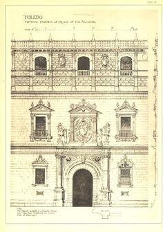 Alcazar of Toledo Facade Architectural by CarambasVintage on Etsy, $22.00