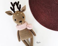 Flora the Fawn Amigurumi crochet PATTERN ONLY handmade deer PDF