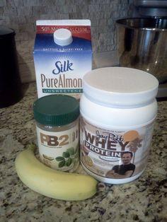 RUNNING FOR DUMMIES: Last Things List - Protein shake: almond milk, PB2, a banana and chocolate Whey protein powder. YUM-O