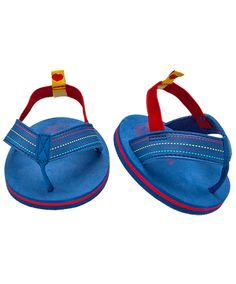 Build-A-Bear Workshop-United Kingdom: Blue & Red Sandals - the boys don't get so much choice in summer footwear, but these will look sweet with the stars & stripes outfit.