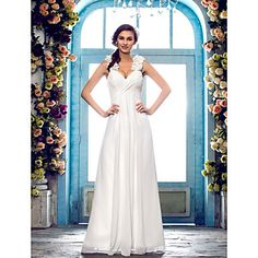 Dress+Plus+Size+/+Petite+Sheath+/+Column+Sweetheart+Floor-length+Chiffon+with+Flower(s)+/+Sash+/+Ribbon+/+Criss+Cross+/+Ruching+–+USD+$+109.99