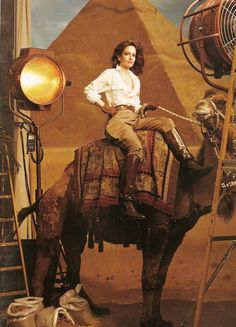 To be funny like Tina Fey, riding a camel, looking like I'm on safari in Egypt - this is the life I seek.