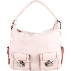 Pre-owned Marc Jacobs Leather Blake Hobo ($145) ❤ liked on Polyvore featuring bags, handbags, shoulder bags, pink, light pink purse, hand bags, pink leather handbags, shoulder strap handbags and shoulder handbags