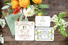 Oh So Beautiful Paper: Jen + Levi's Alchemy-Inspired Wedding Invitations