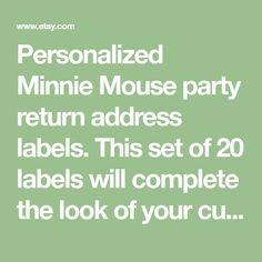 mickey minnie mouse ear disney return address label matches