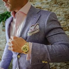 Here's one of our latest S by Sebastian Jackets in collaboration with our latest Sebastian Cruz Couture Wall Street line pocket square. Be Bold my friends!