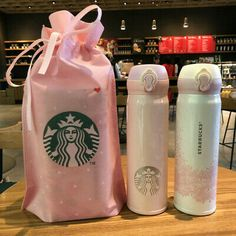 STARBUCKS Cherry Blossom / Butterfly Stainless Thermos 350 ml. Thermos with Flat Lid: New without box but with bag (Color of the bag may vary). Starbucks Stainless Steel Tumbler, Starbucks Tumbler Cup, Copo Starbucks, Starbucks Bottles, Personalized Starbucks Cup, Custom Starbucks Cup, Starbucks Logo, Stainless Steel Thermos, Starbucks Frappuccino