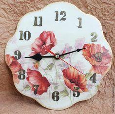 """Часы для дома ручной работы. Ярмарка Мастеров - ручная работа Часы """"Цветы мечты"""". Handmade."""