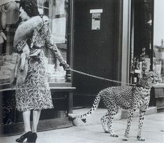 In the style of Salvador Dali walking his anteater, here's a quick post showing American actress Phyllis Gordon walking her pet cheetah around London in 1939