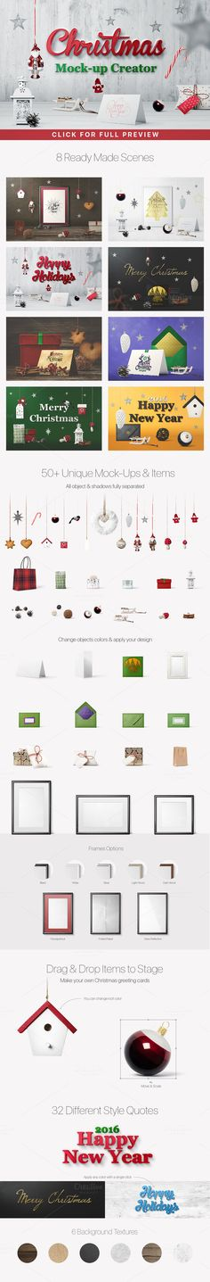 Christmas Mockup Creator by Mockup Cloud on Creative Market
