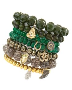 Bead Bracelets with Charms by Sydney Evan at Bergdorf Goodman.