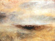 William Turner-Morceau de mer avec un orage surgissant