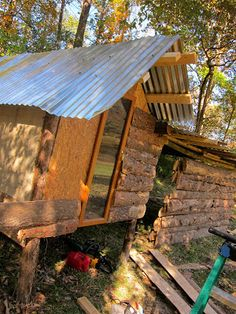 tin roof on chicken coop