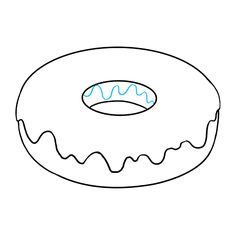 How to Draw Donut: Step 6 Donut Drawing, 3d Art Drawing, Pencil Art Drawings, Drawing Lessons, Doodle Drawings, Easy Drawings, Art Lessons, Drawing Ideas, Art Sketches