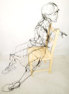 David Oliveira wire sculpture