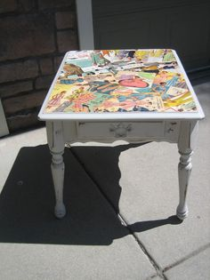 REPURPOSED furniture Upcycled vintage end by jillsfantasticfrills, $60.00