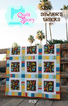 Modern PDF Quilt Pattern  Sawyer's Tracks an Easy by QuiltStory, $9.00