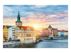 Premium Giclee Print: Prague Old Town & Vltava river by Anonymous : 12x16in
