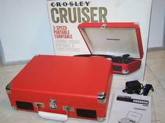 CROSLEY Cruiser 3 Speed Red Portable Turntable Record Player CR80054-SR | Consumer Electronics, TV, Video & Home Audio, Home Audio Stereos, Components | eBay!