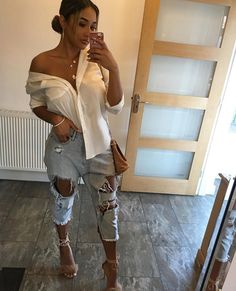 Very Cute Fall Outfit. This Would Look Good Paired With Any Shoes. 29 Trendy Casual Style Ideas That Always Look Great – Very Cute Fall Outfit. This Would Look Good Paired With Any Shoes. Fashion Mode, Fashion Killa, Womens Fashion, Fashion Trends, Fashion Night, Fashion Lookbook, Style Fashion, Spring Outfits, Trendy Outfits