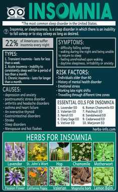9 Causes Of Insomnia Plus 10 Herbs And 10 Essential Oils That May Help ►► http://www.herbs-info.com/blog/9-causes-of-insomnia-plus-10-herbs-and-10-essential-oils-that-may-help/?i=p #insomniaessentialoils