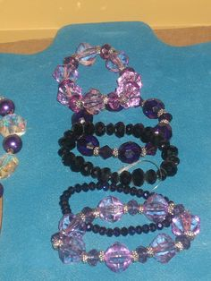 5 Beautiful Beaded Bracelets in the Color Scheme of by cthorses66, $10.00
