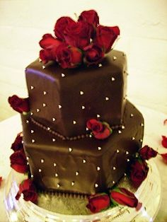 Cakes, red, brown, cake, Decadence