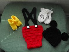 4pc Mickey Mouse Inspired Outfit.  Ready to by DesignsbyKieshia, $25.00