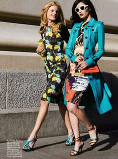 Ming Xi & Hanne-Gaby Odiele by Tommy Ton for Harper's Bazaar Korea May 2012