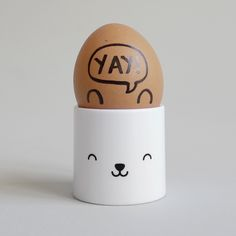 Bear Face Egg Cup. Super cute egg cups for the breakfast table.